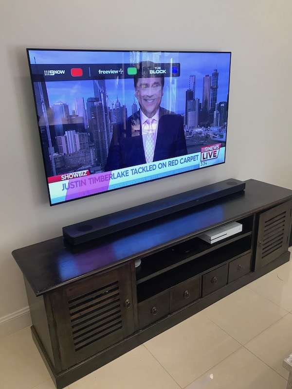 LG OLED Television Wall Mounting Warriewood Northern Beaches